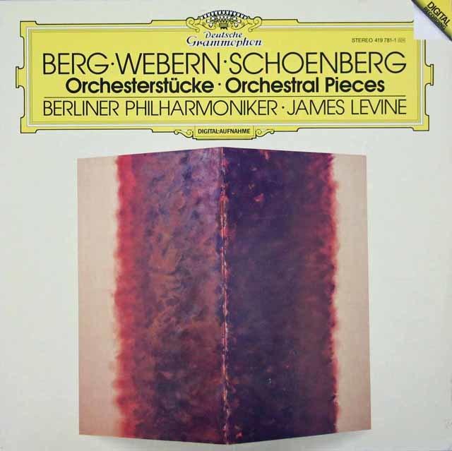 レヴァインのベルク/管弦楽のための3つの小品ほか 独DGG 3042 LP レコード