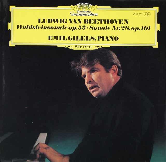 ギレリスのベートーヴェン/ピアノソナタ第21番「ワルトシュタイン」ほか 独DGG 3042 LP レコード