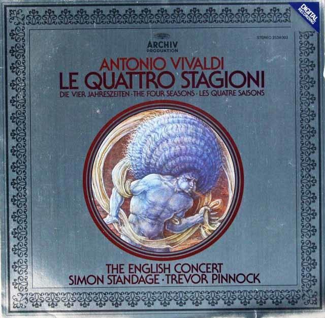スタンデイジ&ピノックのヴィヴァルディ/「四季」 独ARCHIV 3042 LP レコード