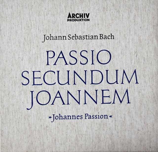 リヒターのバッハ/「ヨハネ受難曲」全曲 独ARCHIV 3042 LP レコード