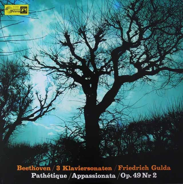 グルダのベートーヴェン/ピアノソナタ「悲愴」「熱情」ほか 独Concert Hall 3042 LP レコード