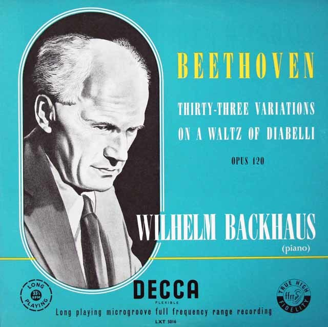【オリジナル盤】バックハウスのベートーヴェン/ディアベリ変奏曲 英DECCA 3042 LP レコード