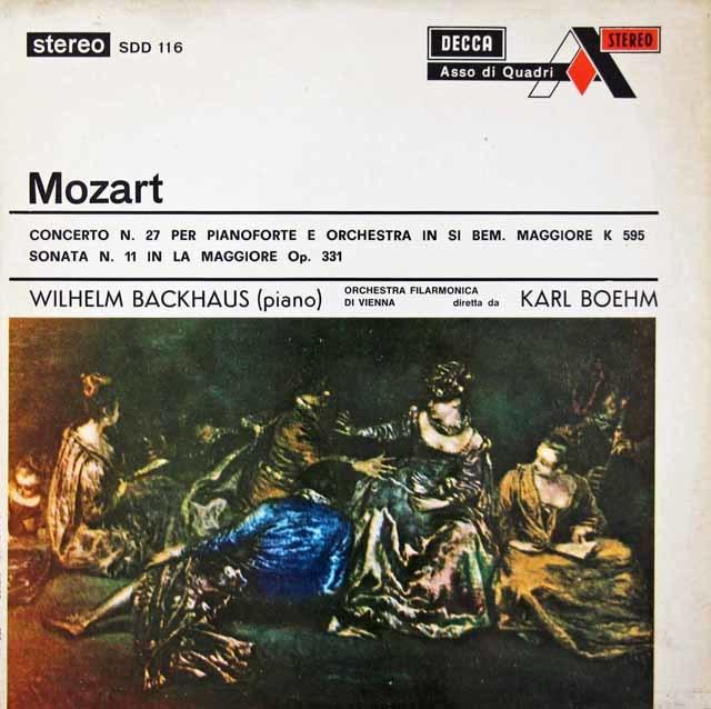 バックハウス&ベームのモーツァルト/ピアノ協奏曲第27番ほか 英DECCA(Ace of Diamonds) 3042 LP レコード