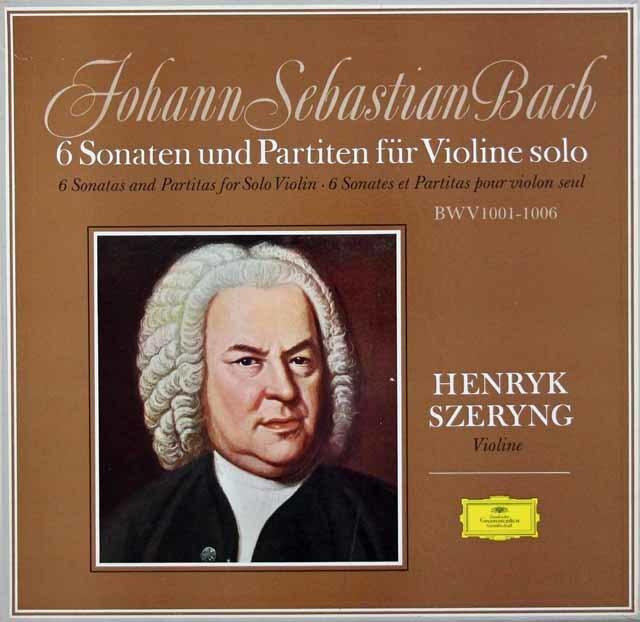 【オリジナル盤】シェリングのバッハ/無伴奏ヴァイオリンソナタとパルティータ全曲   独DGG 3043 LP レコード