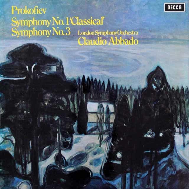 【オリジナル盤】アバドのプロコフィエフ/古典交響曲&第3番 英DECCA 3043 LP レコード