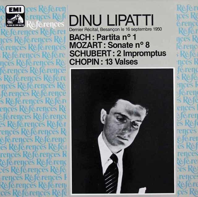 リパッティの「ブサンソン告別演奏会」 仏EMI 3043 LP レコード