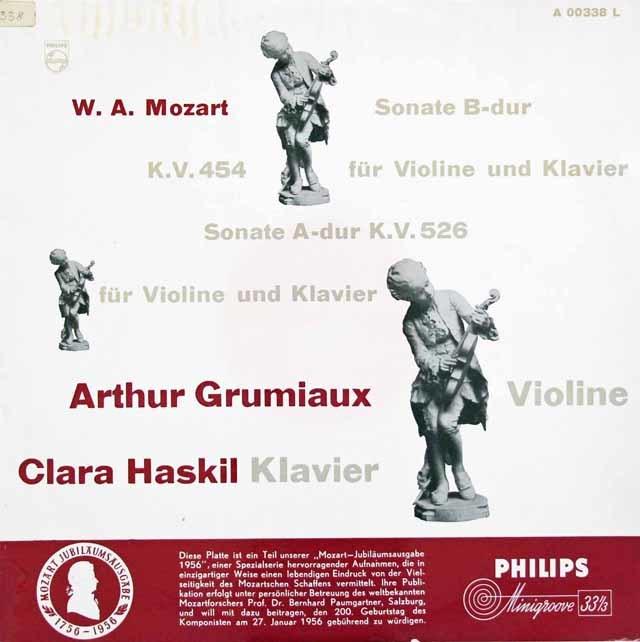 グリュミオー&ハスキルのモーツァルト/ヴァイオリンソナタ第40&42番 蘭PHILIPS 3043 LP レコード