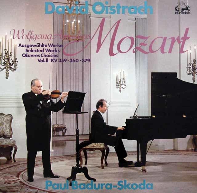 オイストラフ&バドゥラ=スコダのモーツァルト/ヴァイオリンとピアノのための作品集 独eurodisc 3043 LP レコード