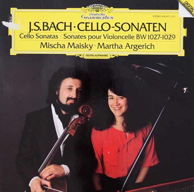 【特価】アルゲリッチ&マイスキーのバッハ/チェロ・ソナタ第1~3番 独DGG 3044 LP レコード