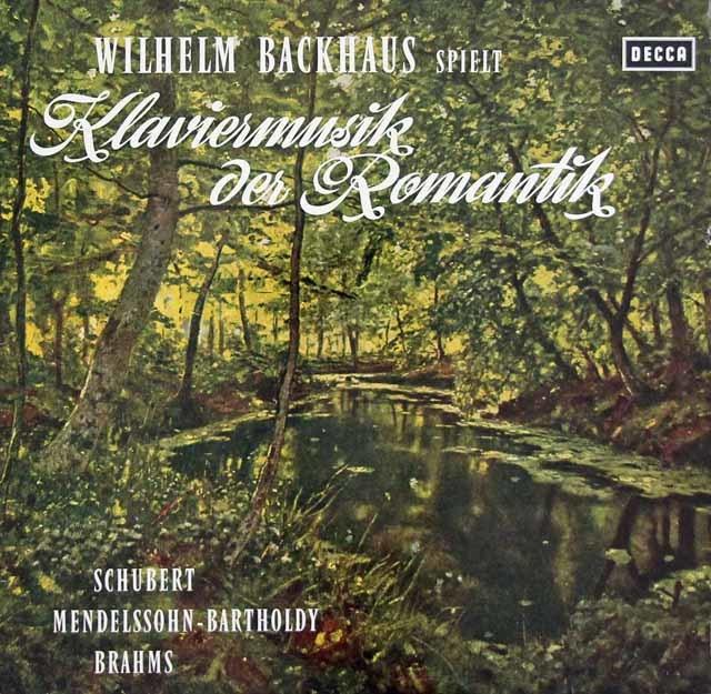 バックハウス/ロマン派ピアノ作品集 独DECCA 3044 LP レコード