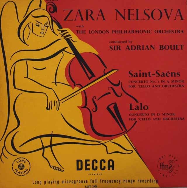 ネルソヴァ&ボールトのサン=サーンス&ラロ/チェロ協奏曲集 仏DECCA 3044 LP レコード