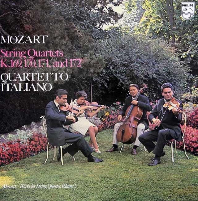 イタリア四重奏団のモーツァルト/弦楽四重奏曲第9~12番 蘭PHILIPS 3044 LP レコード