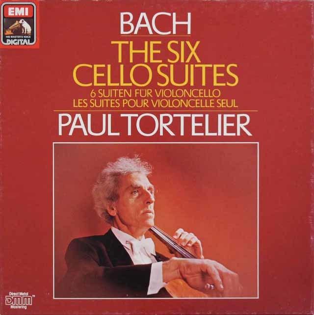 トルトゥリエのバッハ/無伴奏チェロ組曲全6曲 独EMI 3044 LP レコード