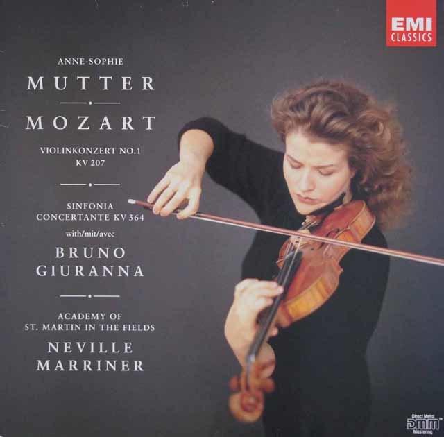 ムター&マリナーのモーツァルト/ヴァイオリン協奏曲第1番ほか 独EMI 3044 LP レコード