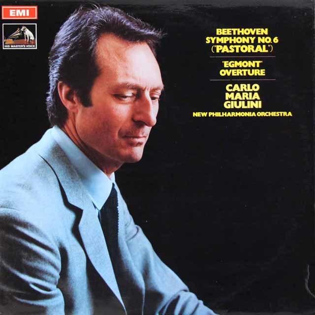 【オリジナル盤】ジュリーニのベートーヴェン/交響曲第6番「田園」ほか 英EMI 3044 LP レコード