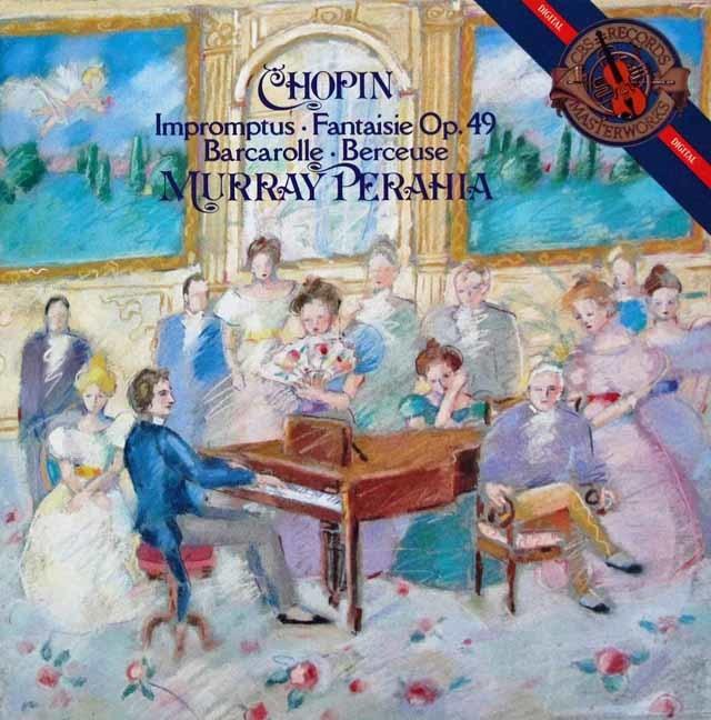ペライアのショパン/即興曲集ほか 蘭CBS 3044 LP レコード