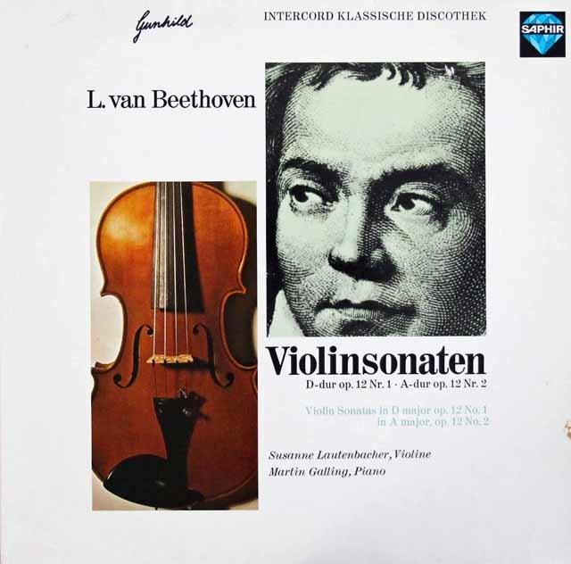 ラウテンバッハーのベートーヴェン/ヴァイオリンソナタ第1&2番 独SAPHIR 3044 LP レコード