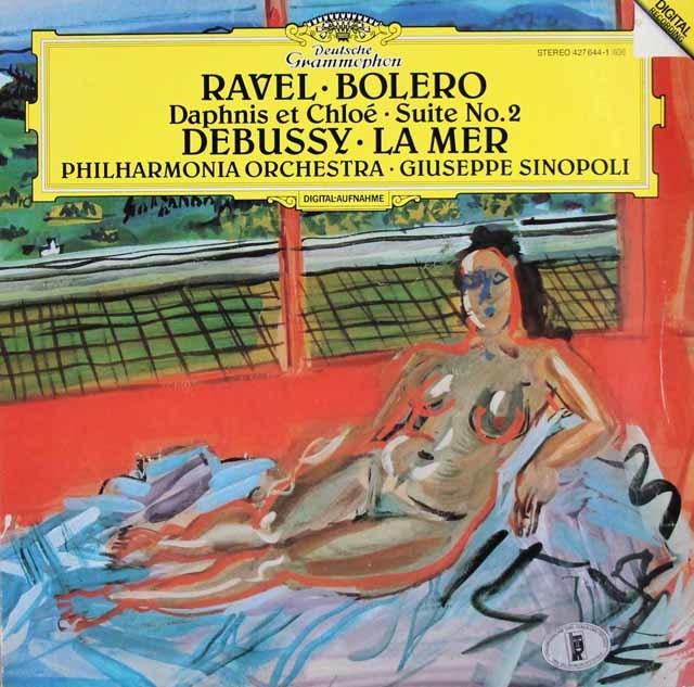 シノーポリのラヴェル/ボレロ、ドビュッシー/海ほか 独DGG 3045 LP レコード