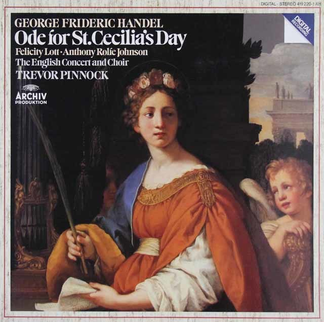 ピノックのヘンデル/聖セシリアの祝日のための頌歌 独ARCHIV 3045