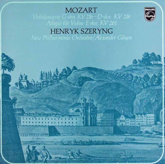シェリング&ギブソンのモーツァルト/ヴァイオリン協奏曲第3番、第4番ほか 蘭PHILIPS 3045 LP レコード