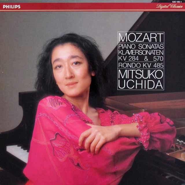 内田のモーツァルト/ピアノソナタ第6番&16番ほか 蘭PHILIPS 3045 LP レコード