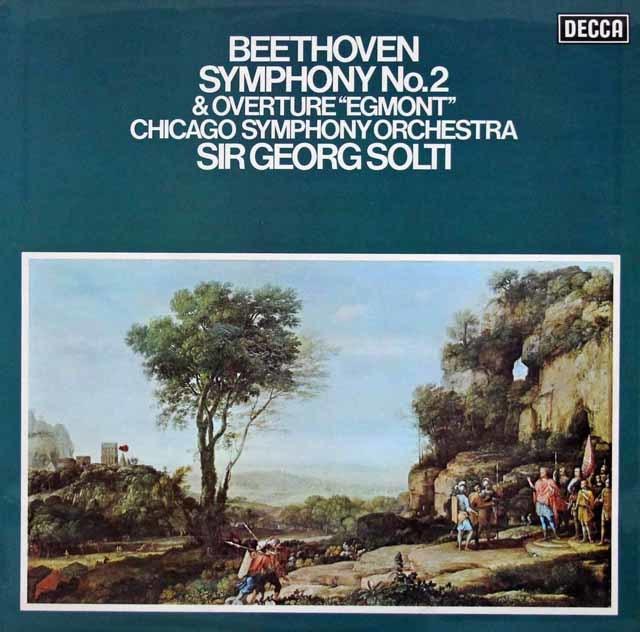 【オリジナル盤】ショルティのベートーヴェン/交響曲第2番ほか   英DECCA 3045 LP レコード