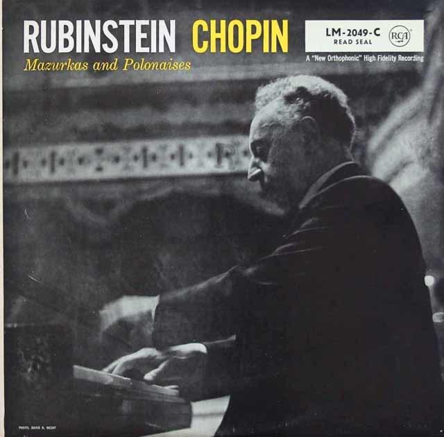ルービンシュタインのショパン/マズルカ&ポロネーズ集 独RCA 3045 LP レコード