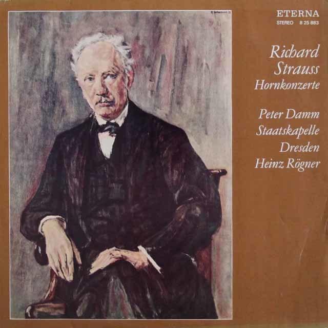 ダム&レーグナーのR.シュトラウス/ホルン協奏曲第1番、第2番 独ETERNA 3045 LP レコード