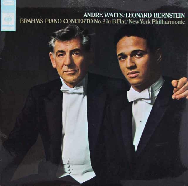 ワッツ&バーンスタインのブラームス/ピアノ協奏曲第2番 英CBS 3045 LPレコード