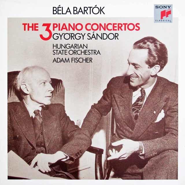 シャンドール& A. フィッシャーのバルトーク/ピアノ協奏曲全集 英CBS 3045 LP レコード