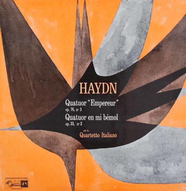 イタリア四重奏団のハイドン/弦楽四重奏曲第77番「皇帝」ほか 英CH 3045 LP レコード