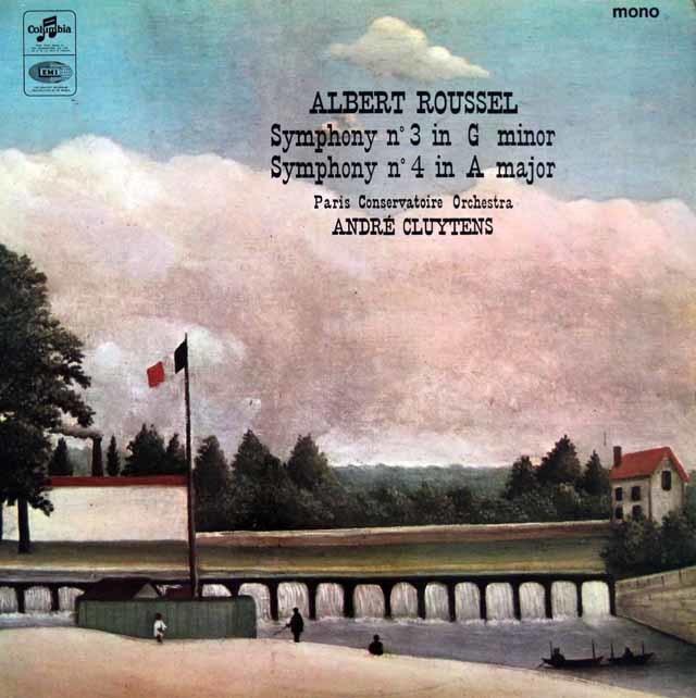 クリュイタンスのルーセル/交響曲第3&4番  英COLUMBIA  3045 LP レコード