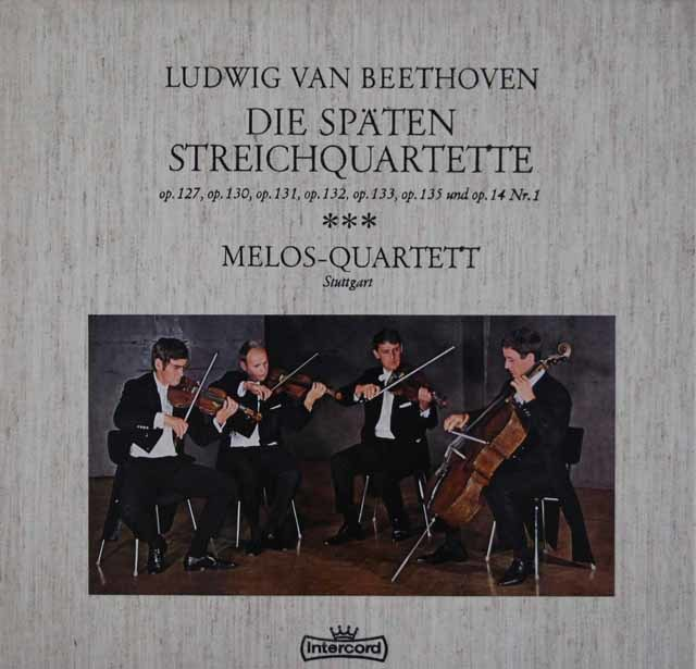 メロス四重奏団のベートーヴェン/後期弦楽四重奏曲集   独Intercord 3045 LP レコード