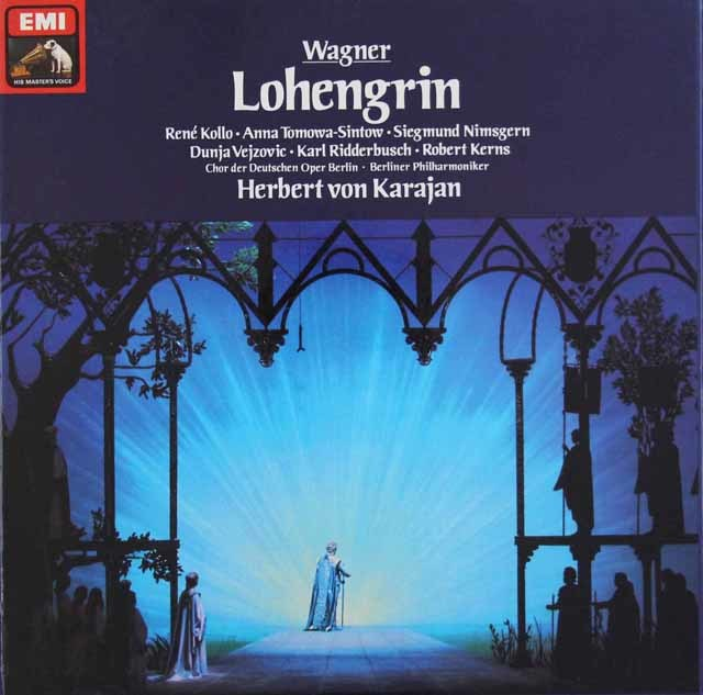 カラヤンのワーグナー/「ローエングリン」  独EMI 3045 LP レコード
