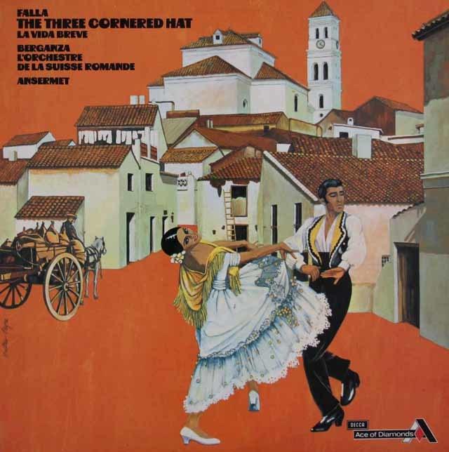 アンセルメのファリャ/「三角帽子」ほか 英DECCA 3046 LP レコード