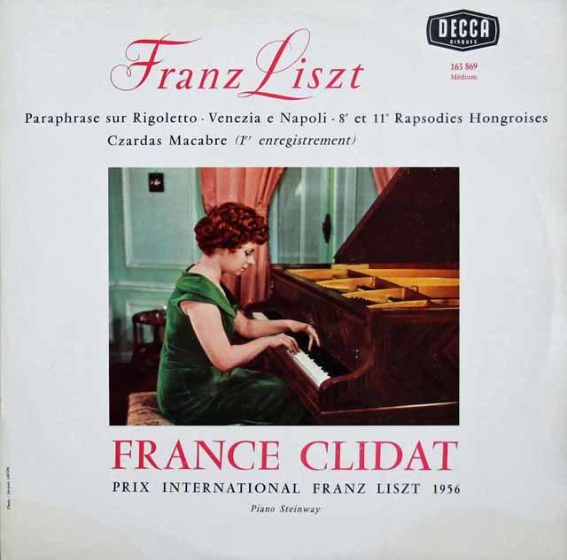 クリダのリスト/「リゴレット」による演奏会用パラフレーズほか 仏DECCA 3046 LP レコード