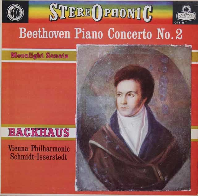 バックハウス&イッセルシュテットのベートーヴェン/ピアノ協奏曲第2番ほか 英London 3046 LP レコード