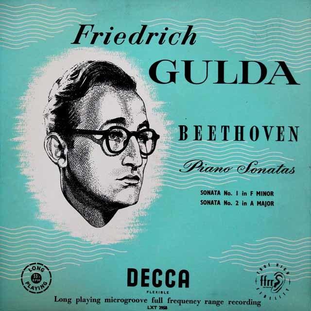 【オリジナル盤】 グルダのベートーヴェン/ピアノソナタ第1・2番 英DECCA 3046 LP レコード