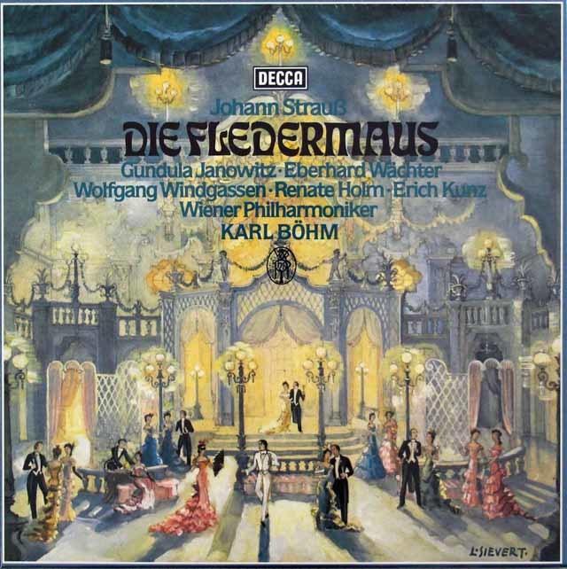 【未開封】 ベームのJ.シュトラウス2世/「こうもり」全曲 独DECCA 3046 LP レコード