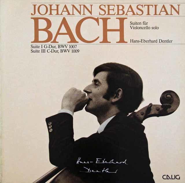 デントラーのバッハ/無伴奏チェロ組曲第1&3番 独CALING 3046 LP レコード