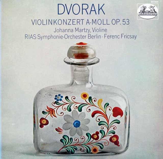 マルツィ&フリッチャイのドヴォルザーク/ヴァイオリン協奏曲 独HELIODOR 3046 LP レコード