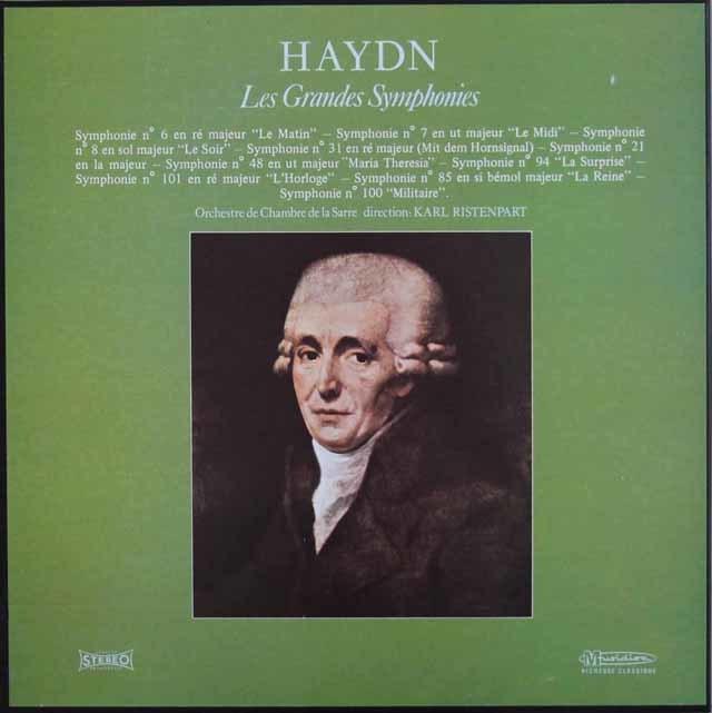 リステンパルトのハイドン/交響曲集 仏Musidisc 3046 LP レコード