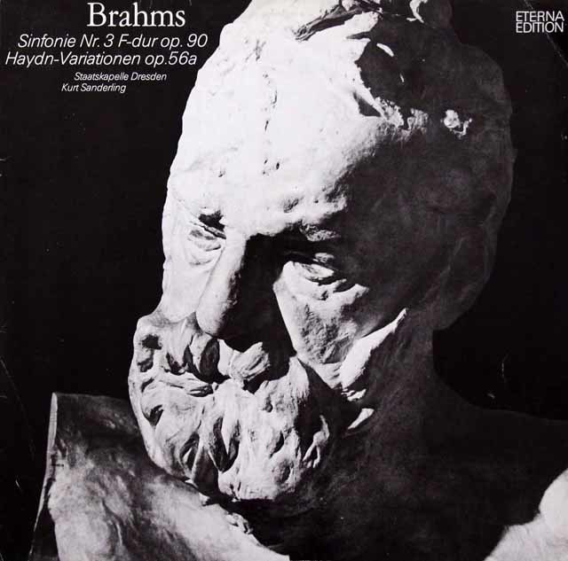 ザンデルリンクのブラームス/交響曲第3番ほか 独ETERNA 3047 LP レコード
