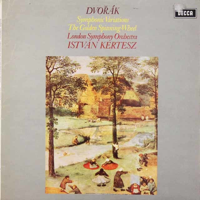 【オリジナル盤】 ケルテスのドヴォルザーク/交響的変奏曲ほか 英DECCA 3047 LP レコード