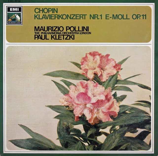 ポリーニ&クレツキのショパン/ピアノ協奏曲第1番 独EMI 3047 LP レコード
