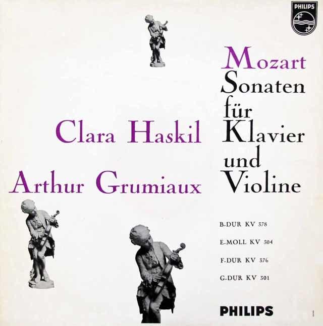 グリュミオー&ハスキルのモーツァルト/ヴァイオリンソナタ集 蘭PHILIPS 3047 LP レコード