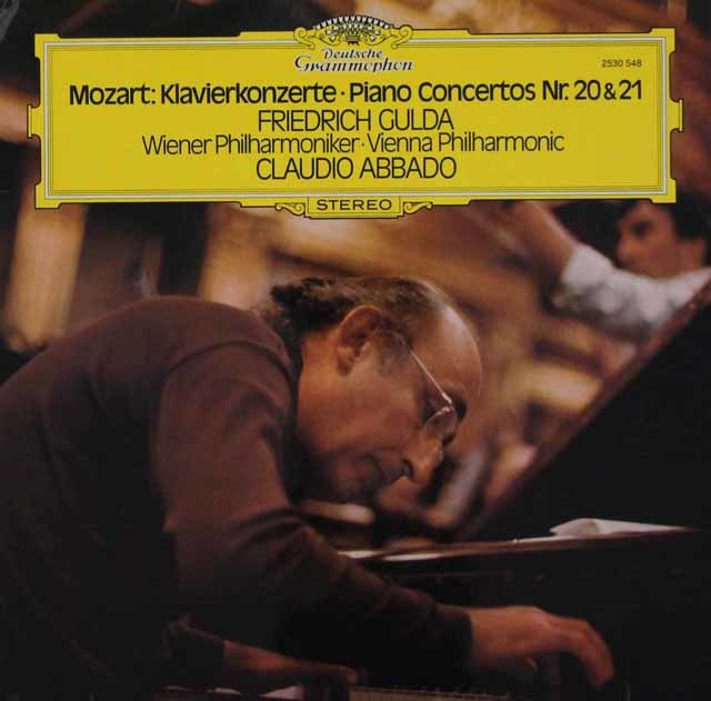 グルダ&アバドのモーツァルト/ピアノ協奏曲第20&21番 独DGG 3047 LP レコード