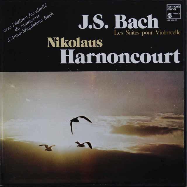 アーノンクールのバッハ/無伴奏チェロ組曲(全曲)  仏HM 3048 LP レコード