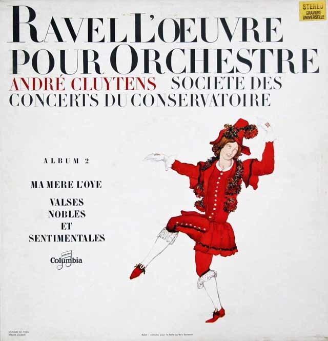 クリュイタンスのラヴェル/「マ・メール・ロワ」ほか 仏Columbia 3048 LP レコード
