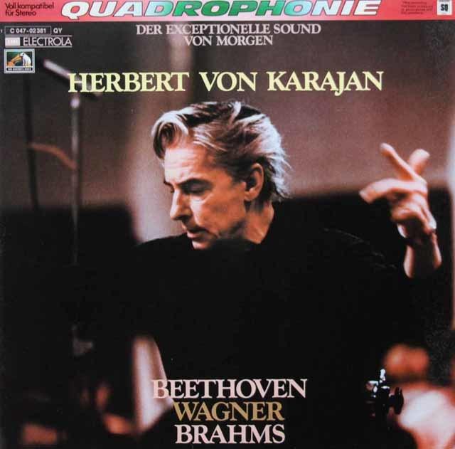 カラヤンのベートーヴェン/「フィデリオ」序曲ほか序曲集 独EMI 3048 LP レコード
